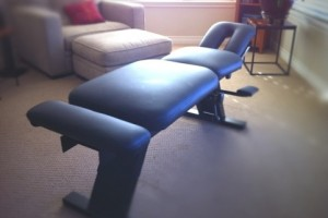 Chiropractic Table Reupholsterd in BolyaSport Olympus Black