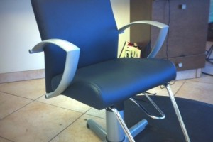 Salon Chair Upholstery in BoltaSport Olympus Black