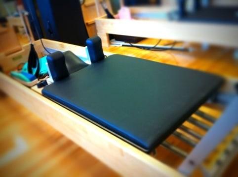 Pilates Upholstery Revolution Slider Recovered in BoltaSport Olympus Black