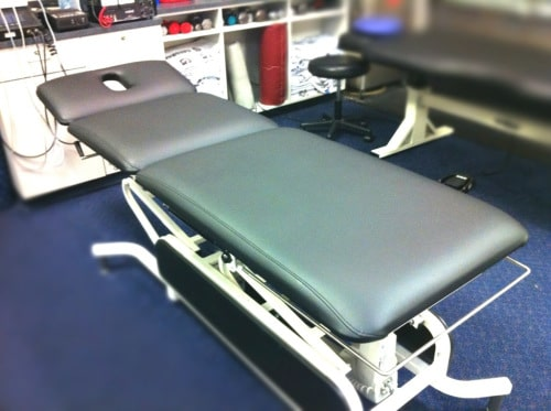 Physical Therapy Tables Recovered in BoltaSport Olympus Black