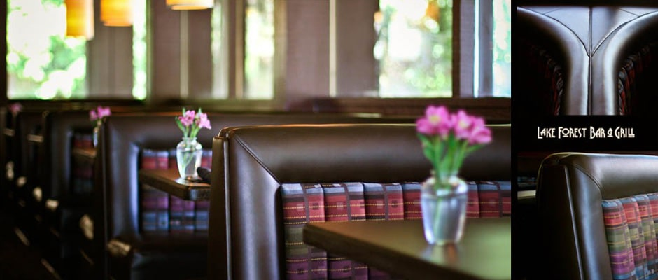 Onsite commercial upholstery services for restaurants.