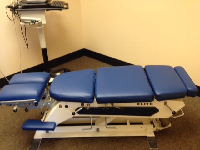 Electric Elevation by Elite Chiropractic Table Recovered in BoltaSport Olympus Regemental Blue
