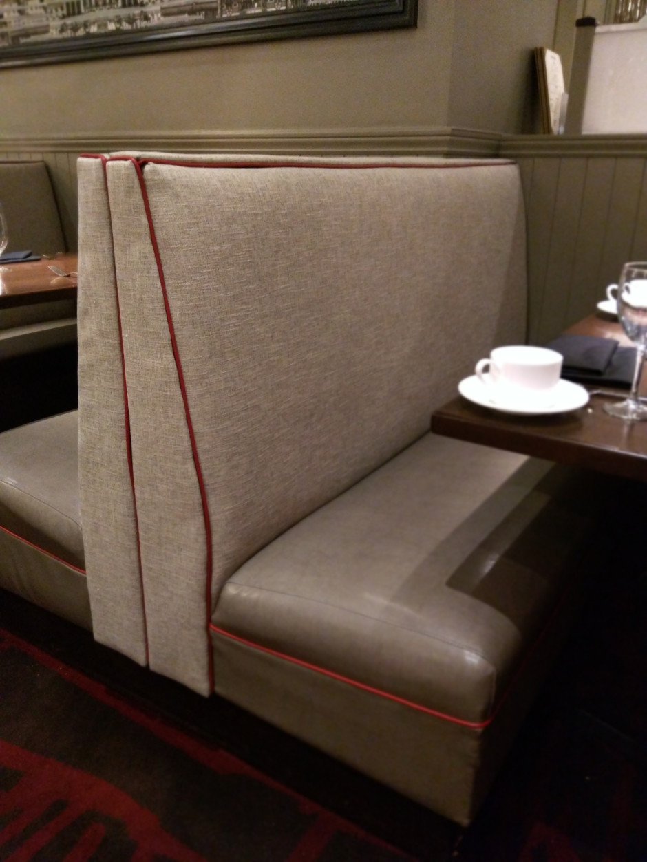 Panzano Restaurant Remodel Double Endcap Booth Seat