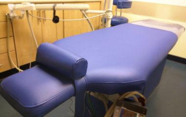 Dental Chair 'Table' in Regimental Blue Olympus