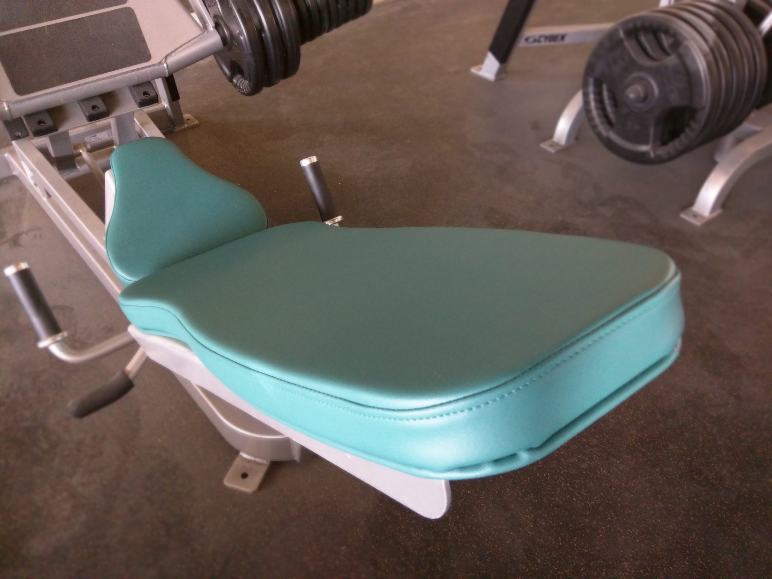 Cybex Leg Press Fitness Equipment Reupholstered in BoltaSport Olympus Grotto