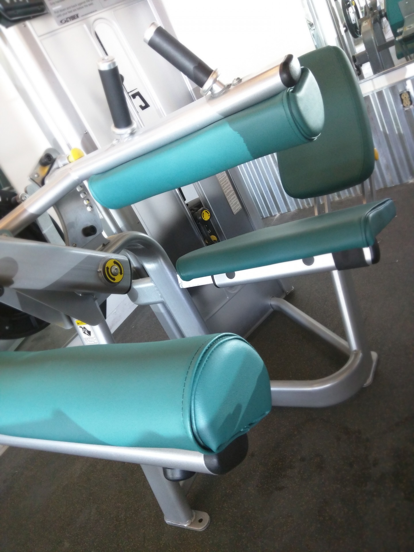 Cybex Leg Curl Fitness Equipment Reupholstered in BoltaSport Olympus Grotto