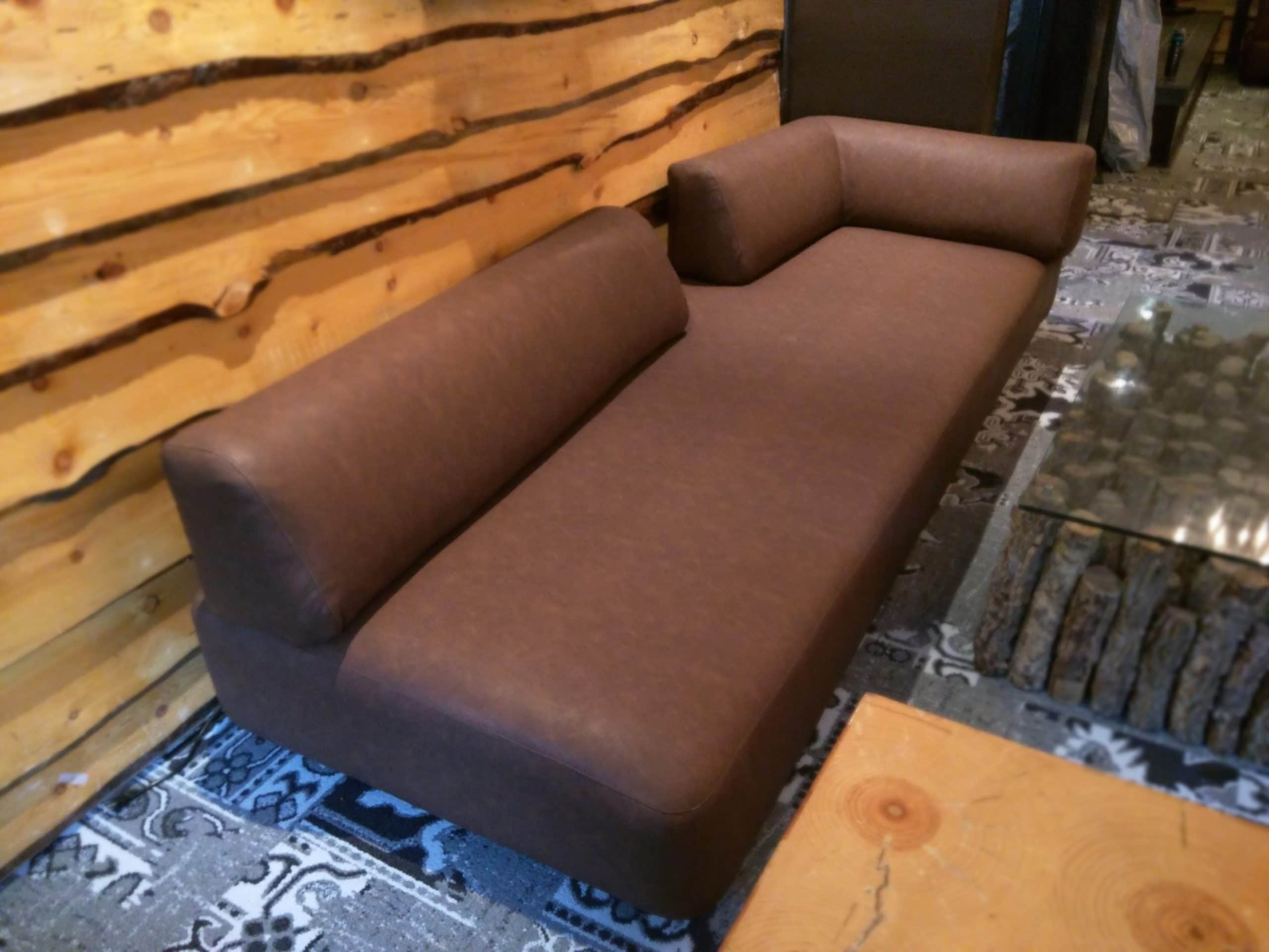 Large Bar Seat Faux Leather Lounge Upholstery
