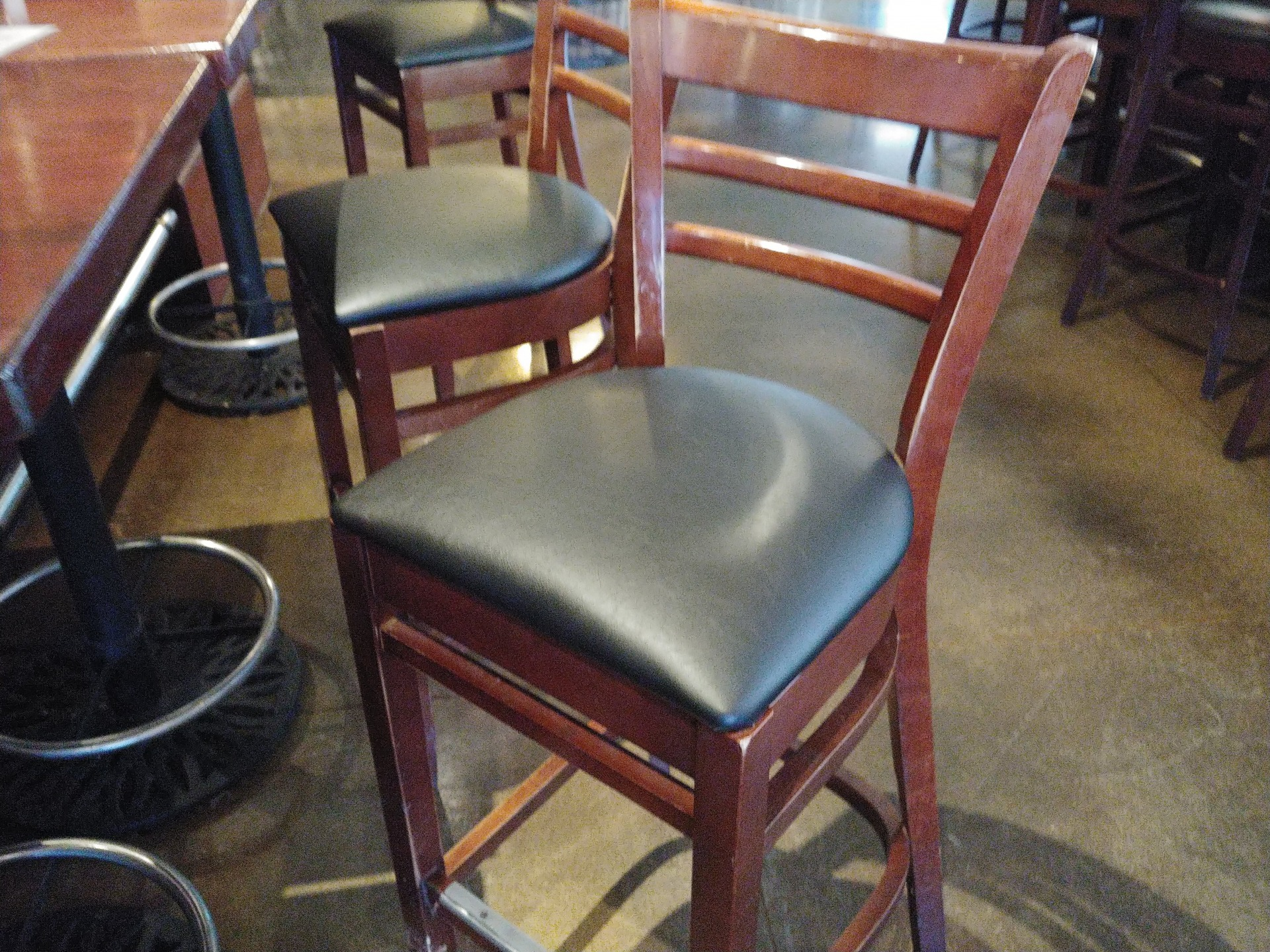 Bar-Stool Chair Seat Recover.Upholstery Repair Service.Gordon Biersch Brewing Company