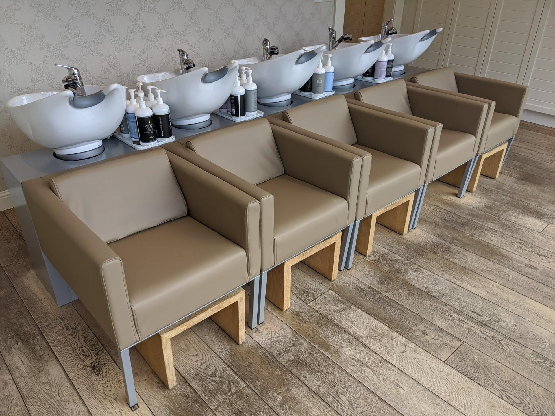 Drybar Shampoo Chair Reupholstery
