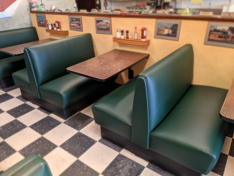Restaurant Single 4-Top Booth Upholstery Pine Needle Olympus.jpg